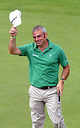 28-7-2011: Paul McGinley after he birdied  the 18th hole  at the Irish Open in Killarney on Thursday..Picture by Don MacMonagle