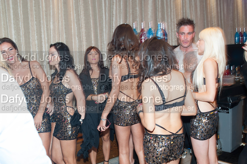 SPEARMINT RHINO GIRLS; STEVE BYRNE, 2013 Bar and Club awerds. Intercontinental. London. 4 June 2013