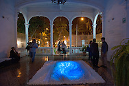 """An inauguration themed art and recycling at the """"Centro Cultural Parra del Riego,"""" in a historic house in Barranco"""