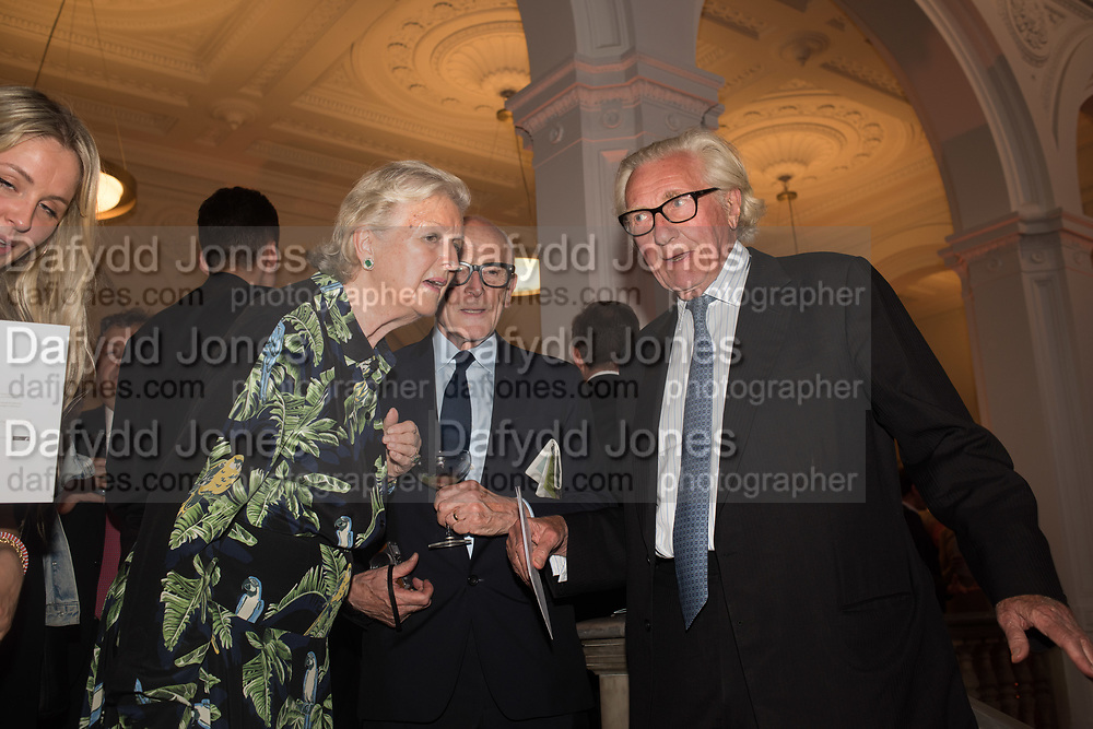 LADY HESELTINE; PETER MURRAY; LORD HESELTINE; , Opening of The New Royal Academy of arts, London. 15 May 2018