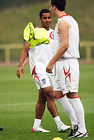 Photo: Chris Ratcliffe.<br />England Training Session. FIFA World Cup 2006. 28/06/2006.<br />Theo Walcott in training.