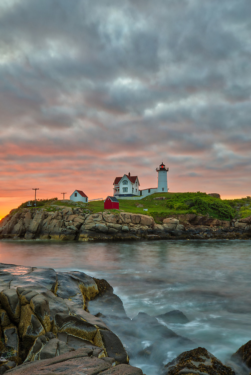 Cape Neddick Light captured at sunrise in York, ME. Loved watching this sunrise while the first light created a beautiful sky across one of Maine's most iconic lighthouses, Nubble Light. Early morning is my favorite time of the day, when I can enjoy peace and solitude.<br /> <br /> Maine fine art photography is available as museum quality photography prints, canvas prints, acrylic prints or metal prints. Prints may be framed and matted to the individual liking and room decor needs:<br /> <br /> https://juergen-roth.pixels.com/featured/maine-sunrise-at-cape-neddick-lighthouse-juergen-roth.html<br /> <br /> My best,<br /> <br /> Juergen<br /> Prints: http://www.rothgalleries.com<br /> Photo Blog: http://whereintheworldisjuergen.blogspot.com<br /> Instagram: https://www.instagram.com/rothgalleries<br /> Twitter: https://twitter.com/naturefineart<br /> Facebook: https://www.facebook.com/naturefineart