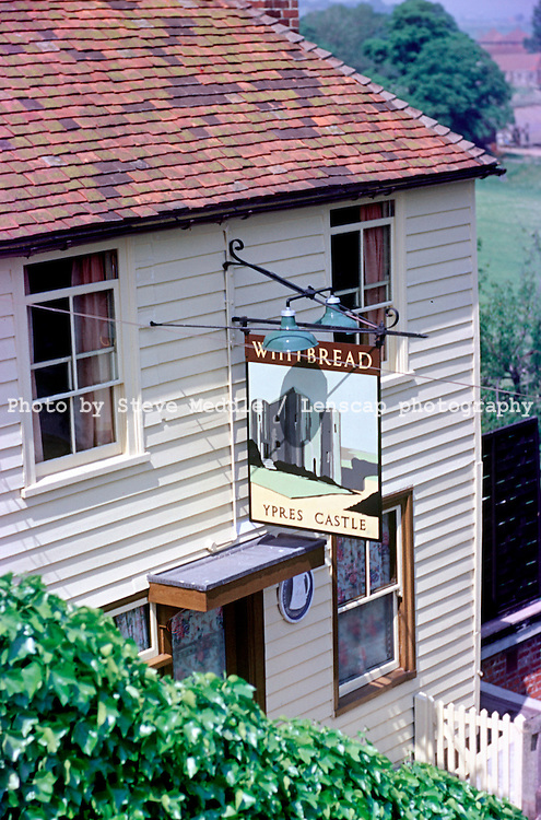 Pub Signs, Ypres Castle Inn ('The Wipers') , Rye, Kent, Britain