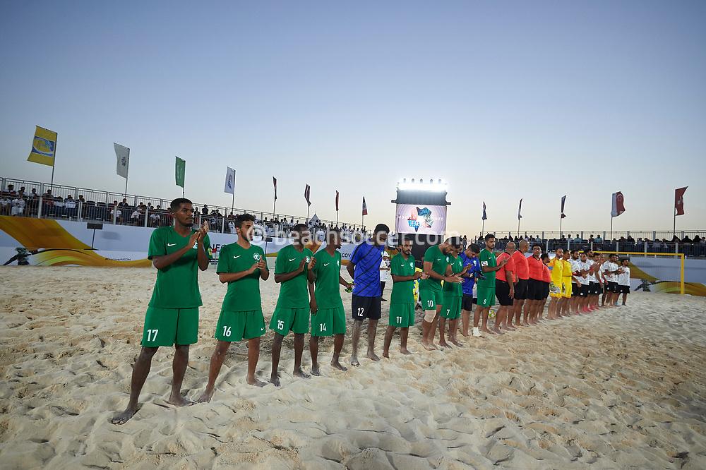 NEOM, SAUDI ARABIA - JULY 19: Neom Beach Soccer Cup at Neom on July 19, 2019 in Neom, Saudi Arabia. (Photo by Mateo Villalba)
