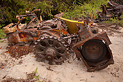 Abandoned road equipment, near the road to Sierra Negra, Isabela Island, Galapapgos Archipelago - Ecuador.