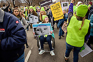 Erin Kline from Concordia University Wisconsin, Mequon, Wis., participates with friends in the March for Life 2017 on Friday, Jan. 27, 2017, in Washington, D.C. LCMS Communications/Erik M. Lunsford