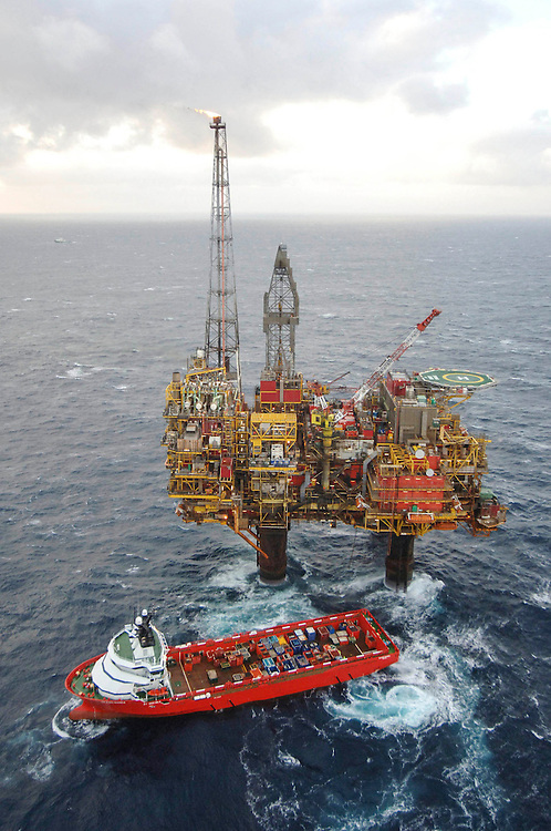 Offshore photography of Shell's Brent Charlie Platform in the Northern North Sea.