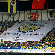 Fenerbahce's supporters during their UEFA Champions League third Qualifying round first leg soccer match Fenerbahce between Vaslui at Sukru Saracaoglu stadium in Istanbul Turkey on Wednesday 01 August 2012. Photo by TURKPIX