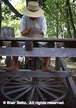 Potter and Potters Wheel, Early American, Goshenhoppen Festival, Montgomery Co., PA