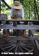 Potter and Potters Wheel, Early American, Goshenhoppen Festival, Montgomery Co., PA