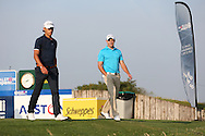 Joakim Lagergren (SWE) & Maximilian Kieffer (GER) head off the 16th during Round One of the 2015 Alstom Open de France, played at Le Golf National, Saint-Quentin-En-Yvelines, Paris, France. /03/07/2015/. Picture: Golffile | David Lloyd<br /> <br /> All photos usage must carry mandatory copyright credit (© Golffile | David Lloyd)