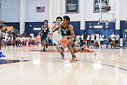 THOUSAND OAKS, CA Sunday, August 12, 2018 - Nike Basketball Academy. Joshua Christopher 2020 #16 of Mayfair HS attacks the paint. <br /> NOTE TO USER: Mandatory Copyright Notice: Photo by John Lopez / Nike