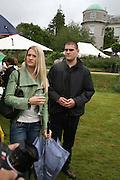 LADY ALEXANDRA GORDON-LENNOX  AND JULIEN DRAPER, Cartier Style et Luxe lunch. Goodwood.  24 June 2007.  -DO NOT ARCHIVE-© Copyright Photograph by Dafydd Jones. 248 Clapham Rd. London SW9 0PZ. Tel 0207 820 0771. www.dafjones.com.