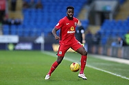 Hope Akpan of Blackburn Rovers in action. Skybet football league championship match, Cardiff city v Blackburn Rovers at the Cardiff city stadium in Cardiff, South Wales on Saturday 2nd Jan 2016.<br /> pic by Andrew Orchard, Andrew Orchard sports photography.