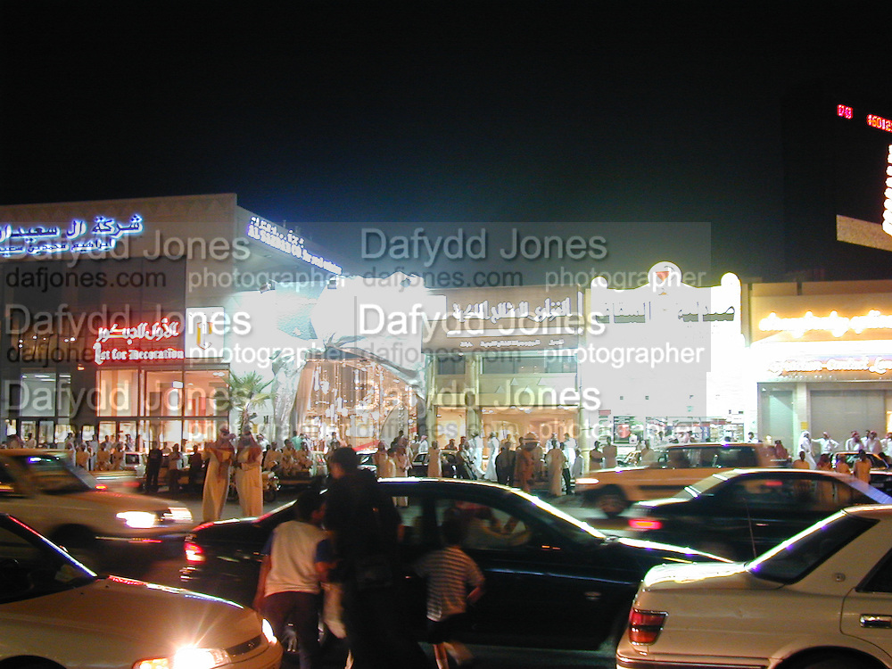 Harvey Nichols and Al Faisaliah. May 2000.  Riyadh, Saudi  Arabia. © Copyright Photograph by Dafydd Jones 66 Stockwell Park Rd. London SW9 0DA Tel 020 7733 0108 www.dafjones.com