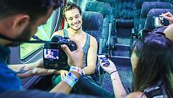 Tiago Iorc concede entrevista aos jornalistas antes de subir ao Palco Planeta durante a 22ª edição do Planeta Atlântida. O maior festival de música do Sul do Brasil ocorre nos dias 3 e 4 de fevereiro, na SABA, na praia de Atlântida, no Litoral Norte gaúcho.  Foto: André Feltes / Agência Preview