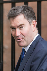 Downing Street, London, October 18th 2016. Chief Secretary to the Treasury David Gauke leaves 10 Downing Street in London following the weekly cabinet meeting.