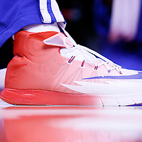 21 April 2014: Close view of Los Angeles Clippers forward Danny Granger (33) shoes during the Los Angeles Clippers 138-98 victory over the Golden State Warriors, during Game Two of the Western Conference Quarterfinals of the NBA Playoffs, at the Staples Center, Los Angeles, California, USA.