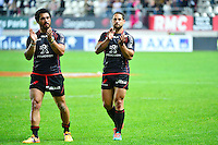 Joie Yann DAVID / Luke McALISTER - 24.04.2015 - Stade Francais / Stade Toulousain - 23eme journee de Top 14<br />