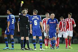 Rochdale's Peter Vincenti picks up a yellow card- Photo mandatory by-line: Matt McNulty/JMP - Mobile: 07966 386802 - 26/01/2015 - SPORT - Football - Rochdale - Spotland Stadium - Rochdale v Stoke City - FA Cup Fourth Round