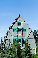 Mountaineering guidehouse at the Paradise Park area of Mt. Rainier National Park, WA.