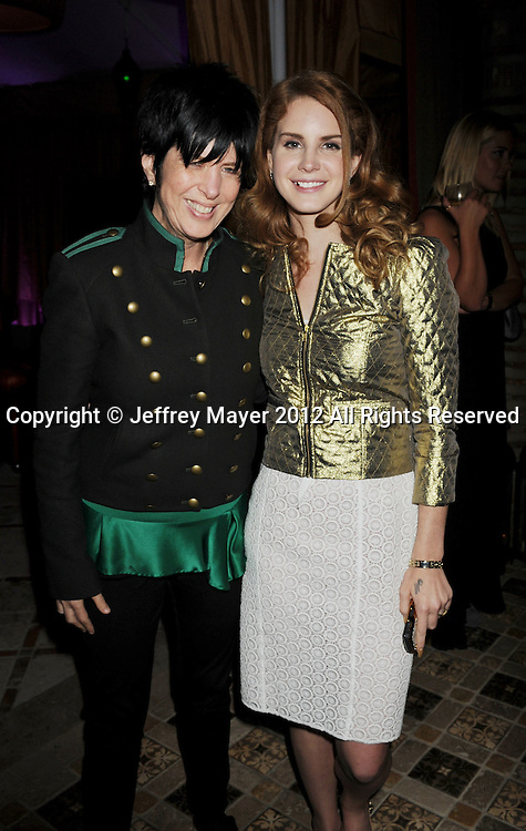 LOS ANGELES, CA - FEBRUARY 12: Diane Warren and Lana Del Rey attend the Universal Music Group 54th Grammy Awards Viewing Reception hosted by Lucian Grainge at private residence on February 12, 2012 in Los Angeles, California.