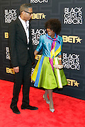 April 1, 2016- Newark, NJ: United States- (L-R) Designer B. Michaels and Actress Cisely Tyson attend the 2016 Black Girls Rock Red Carpet Arrivals held at NJPAC on April 1, 2016 in Newark, New Jersey. Black Girls Rock! is an annual award show, founded by DJ Beverly Bond, that honors and promotes women of color in different fields involving music, entertainment, medicine, entrepreneurship and visionary aspects.   (Terrence Jennings/terrencejennings.com)