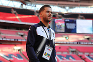 AFC Wimbledon attacker Harry Forrester (11) arriving and walking onto pitch during the The FA Cup 3rd round match between Tottenham Hotspur and AFC Wimbledon at Wembley Stadium, London, England on 7 January 2018. Photo by Matthew Redman.