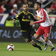 Sal Zizzo,  New York Red Bulls, in action during the New York Red Bulls Vs Columbus Crew SC, Major League Soccer Eastern Conference Championship, second leg, at Red Bull Arena, Harrison, New Jersey. USA. 29th November 2015. Photo Tim Clayton