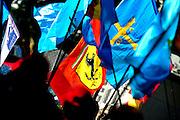 September 10-12, 2010: Italian Grand Prix. Ferrari flags for Alonso