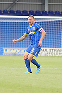 Barry Fuller in action during the Pre-Season Friendly match between AFC Wimbledon and Cheltenham Town at the Cherry Red Records Stadium, Kingston, England on 1 August 2015. Photo by Stuart Butcher.