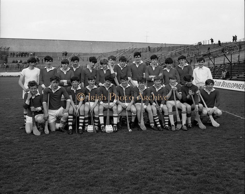 03/05/1970<br /> 05/03/1970<br /> 3 May 1970<br /> National Schools Hurling Final: Cork v Offaly at Croke Park, Dublin. <br /> The Cork team that wone the National Schools Hurling Final.