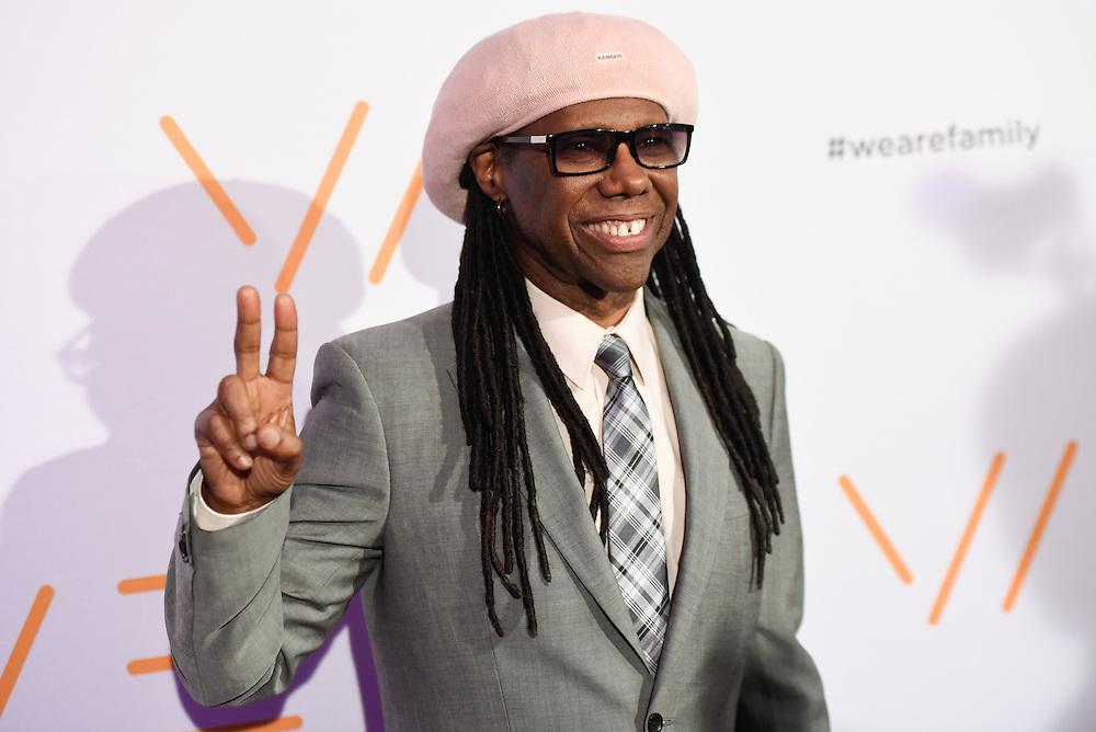 Photos of the musician Nile Rodgers attending the We Are Family Foundation 2016 celebration gala at Hammerstein Ballroom, NYC on April 29, 2016. © Matthew Eisman/ Getty Images. All Rights Reserved