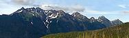 Mount Sefrit and Noosack Ridge in the North Cascades Range of Washington State, USA.