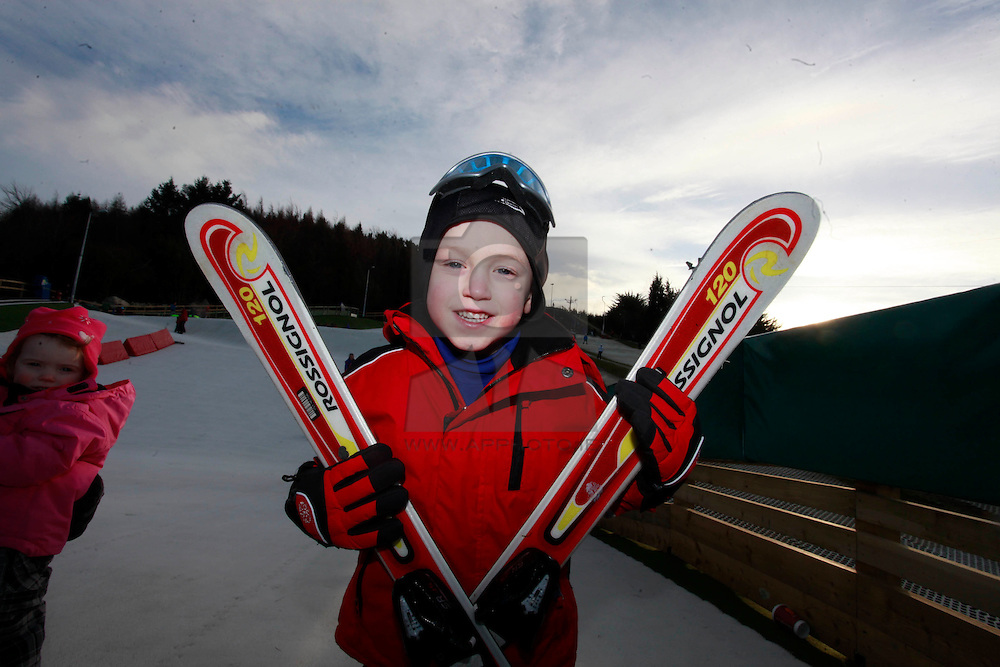 No fee for Repro: 22/01/2012.Eli Leonard (5) from Balbriggan are pictured during World Snow Day at the Ski Club of Ireland in Kilternan who hosted a festival day of snowsports activities. Pic Andres Poveda.