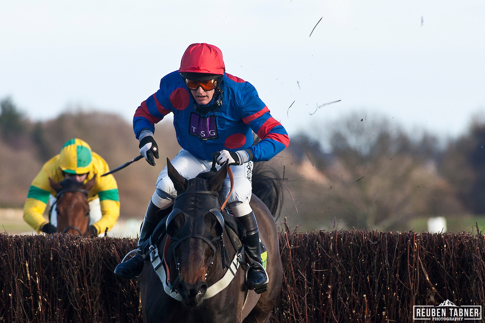 3:15pm Newcastle - Eider Chase...Companero, ridden by Peter Buchanan..Owner: Expors of the late Mr W.M.G. Black..Trainer: Howard Johnson, Crook.