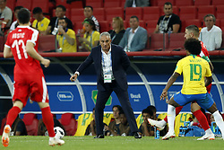 coach Tite of Brazil during the 2018 FIFA World Cup Russia group E match between Serbia and Brazil at the Otkrytiye Arena on June 27, 2018 in Moscow, Russia