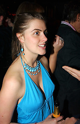 MISS MOLLY OLDFIELD at a party hosted by Tatler magazine to celebrate the publication of the 2004 Little Black Book held at Tramp, 38 Jermyn Street, London SW1 on 10th November 2004.<br />