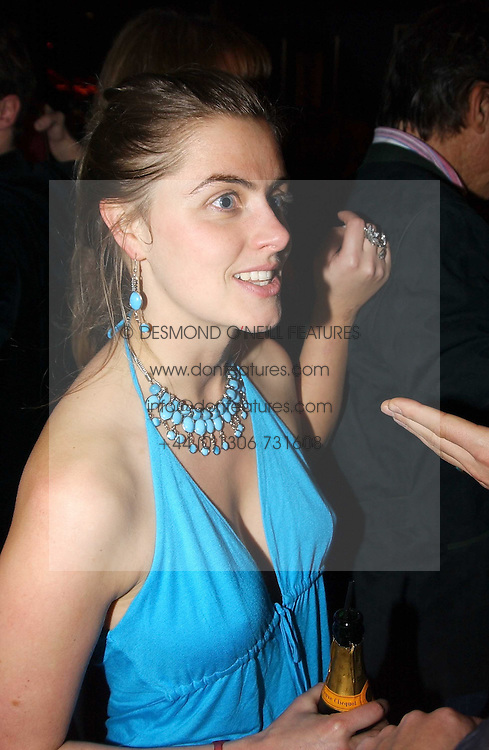 MISS MOLLY OLDFIELD at a party hosted by Tatler magazine to celebrate the publication of the 2004 Little Black Book held at Tramp, 38 Jermyn Street, London SW1 on 10th November 2004.<br /><br />NON EXCLUSIVE - WORLD RIGHTS
