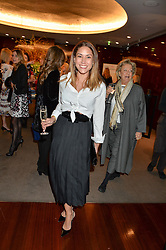 LILY HODGES at a ladies lunch in aid of the charity Child Bereavement UK held at The Bulgari Hotel, 171 Knightsbridge, London on 25th February 2016.