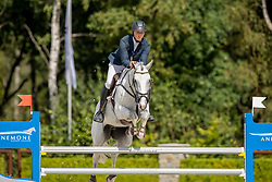 Chitty Alex, GBR, Karel Doorman<br /> Nationaal Kampioenschap KWPN<br /> 5 jarigen springen final<br /> Stal Tops - Valkenswaard 2020<br /> © Hippo Foto - Dirk Caremans<br /> 19/08/2020