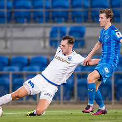 BRISBANE, AUSTRALIA - SEPTEMBER 20: Milos Lujic of South Melbourne crosses the ball during the Westfield FFA Cup Quarter Final match between Gold Coast City and South Melbourne on September 20, 2017 in Brisbane, Australia. (Photo by Gold Coast City FC / Patrick Kearney)