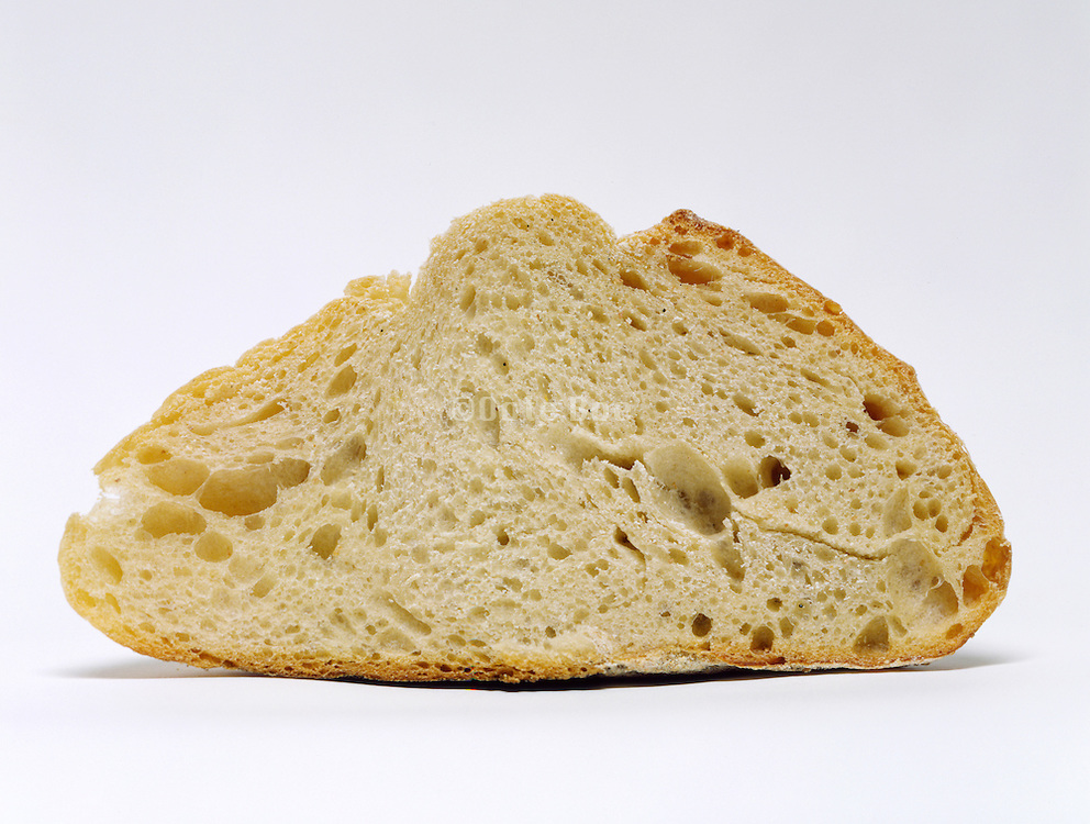 Slice of white peasant bread
