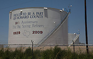 Oil tank part of Alon USA Refinery in Big Spring Texas in the Permian Basin