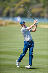 March 21, 2018 - Austin, TX, U.S. - AUSTIN, TX - MARCH 21: Jordan Spieth watches a shot during the First Round of the WGC-Dell Technologies Match Play on March 21, 2018 at Austin Country Club in Austin, TX. (Photo by Daniel Dunn/Icon Sportswire) (Credit Image: © Daniel Dunn/Icon SMI via ZUMA Press)