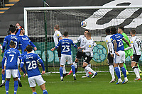 Football - 2020 / 2021 Sky Bet Championship - Swansea City vs Cardiff City - Liberty Stadium<br /> <br /> Aden Flint Cardiff City scores his team's first goalin the South Wales local derby match<br /> <br /> COLORSPORT/WINSTON BYNORTH