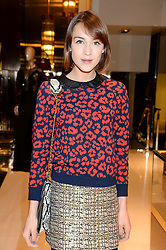 ELLA CATLIFF at a party hosted by Gucci & Clara Paget to drink a new cocktail 'I Bamboo You' held at Gucci, 34 Old Bond Street, London on 16th October 2013.