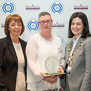23.05.2018.       <br /> Today, the Institute of Community Health Nursing (ICHN) hosted its2018 community nurseawards in association withHome Instead Senior Care,at its annual nursing conference, in the Strand Hotel Limerick, rewarding public health nurses for their dedication to community care across the country. <br /> <br /> Pictured are, Bernie Byrne, Home Instead Senior Care Rathcoole, Dublin, with ICHN President Anne Lynott (right) presenting Anne Marie Kelly, CNS Continence Promotion Unit, Dr Stevens Hospital, Dublin,  with her award for Overall Winner. Anne Marie constantly strives to provide evidence based care. This is clearly demonstrated through the development of a Continence Care Model Paper to support the development of the nurse led clinic in Lucan PCT. Anne Marie was instrumental in finalising this document which she and her colleague Teresa are using in practice. Utilising HIQA and NMBI standards provides an overarching CQI and QA approach.  Picture: Alan Place
