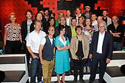 Najaarspresentatie 2012/2013 VARA in de studio van De Wereld Draait Door op het Westergasterrein in Amsterdam.<br /> <br /> Op de foto: o.a. Menno Bentveld, Sander de Heer, Janine Abbring en Giel Beelen , Niels van der Laan, Jeroen Woe, Paul de Leeuw, Astrid Joosten, Erik Dijkstra, Hans Sibbel, Kees Driehuis en Brecht van Hulten