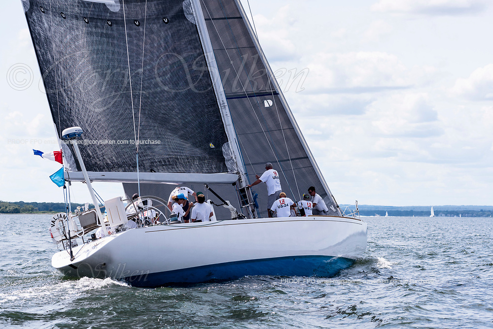 Valiant sailing in the Panerai Herreshoff Classic Yacht Regatta.